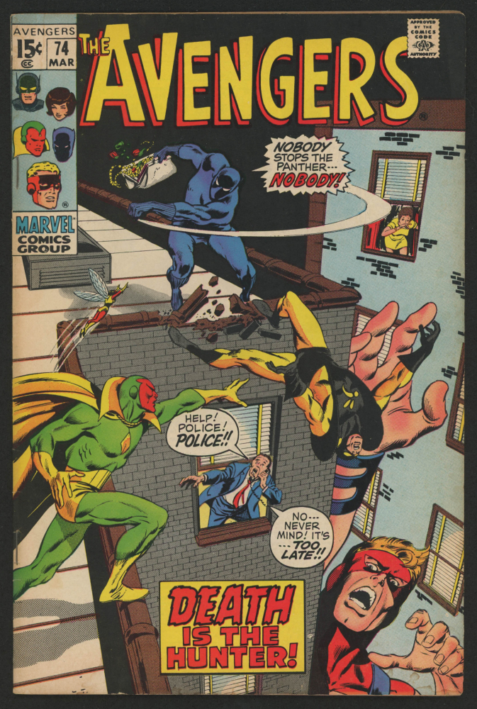 """1970 """"The Avengers"""" Issue #74 Marvel Comic Book at PristineAuction.com"""