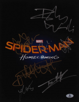 """Spider-Man: Homecoming"" 11x14 Photo Cast-Signed by (7) with Robert Downey Jr., Tom Holland, Zendaya, Jacob Bertrand (Beckett Hologram) at PristineAuction.com"