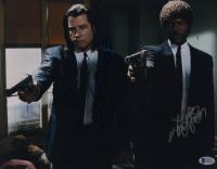 "John Travolta & Samuel L. Jackson Signed ""Pulp Fiction"" 11x14 Photo (Beckett Hologram) at PristineAuction.com"
