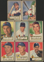 Lot of (8) 1952 Topps Baseball Cards with Eddie Yost #123, Bob Kuzava #85, Mickey Grasso #90 at PristineAuction.com