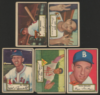 Lot of (5) 1952 Topps Baseball Cards with Larry Jansen #5, Wayne Terwilliger #7, Mel Parnell #30 at PristineAuction.com