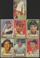Lot of (7) 1952 Topps Baseball Cards with Solly Hemus #196, Ferris Fain #21, Eddie Yost #123 at PristineAuction.com