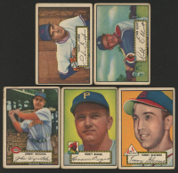 Lot of (5) 1952 Topps Baseball Cards with Bob Elliott #14, Tommy Glaviano #56, Johnny Wyrostek #13 at PristineAuction.com