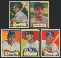 Lot of (5) 1952 Topps Baseball Cards with Preacher Roe #66, Johnny Sain #49, Hank Sauer #35 at PristineAuction.com