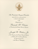 President Barack Obama & Vice President Joe Biden 2009 Inauguration Invitation Letter at PristineAuction.com