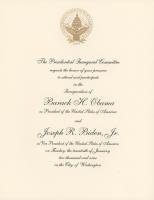 President Barack Obama & Vice President Joe Biden 2009 Inauguration Invitation Letter at PristineAuction.com