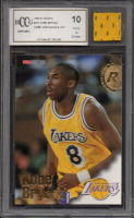 Kobe Bryant 1996-97 Hoops #281RC  w/ Piece of Game Used Jersey (BCCG 10) at PristineAuction.com
