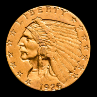 1926 $2.50 Indian Head Quarter Eagle Gold Coin at PristineAuction.com