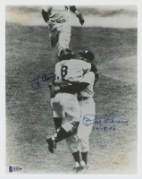 "Yogi Berra & Don Larsen Signed Yankees 8x10 Photo Inscribed ""10-8-56"" (Beckett COA) at PristineAuction.com"