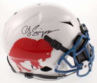 O.J. Simpson Signed Bills Full-Size Authentic On-Field Hydro-Dipped Vengeance Helmet with Visor (JSA COA) at PristineAuction.com