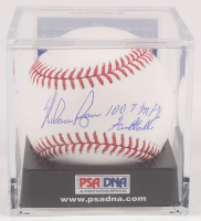 "Nolan Ryan Signed OML Baseball with Display Case Inscribed ""100.7 MPH Fastball"" (PSA COA - Graded 9.5) at PristineAuction.com"