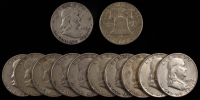 Lot of (12) 1950-63 Franklin Half Dollars at PristineAuction.com