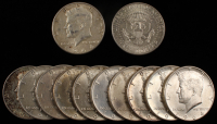 Lot of (12) 1964 Kennedy Half Dollars at PristineAuction.com