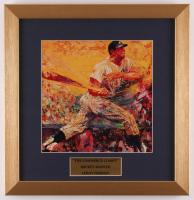"LeRoy Neiman ""Mickey Mantle"" 15.5x16 Custom Framed Print Display at PristineAuction.com"
