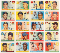 Lot of (20) 1955 Topps Baseball Cards with #85 Don Mossi RC, #51 Jim Hughes, #45 Hank Sauer, #67 Wally Moon at PristineAuction.com