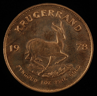 1 Ounce .917 Fine Gold 1978 South African Krugerrand at PristineAuction.com