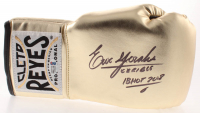 """Erik Morales Signed Reyes Boxing Glove Inscribed """"Terrible"""" & """"IBHOF 2018"""" (Beckett COA) at PristineAuction.com"""