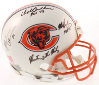 Dick Butkus, Mike Singletary & Brian Urlacher Signed Bears Full-Size Authentic On-Field Helmet With Multiple Inscriptions (Schwartz COA) at PristineAuction.com