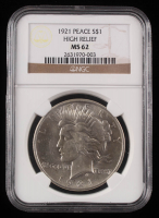 1921 Peace Silver Dollar - High Relief (NGC MS62) at PristineAuction.com
