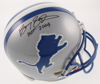 "Barry Sanders Signed Lions Full-Size Helmet Inscribed ""HOF 2004"" (PSA COA & Mounted Memories COA) at PristineAuction.com"