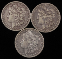 Lot of (3) Morgan Silver Dollars with 1882-O, 1981-O, & 1904-O at PristineAuction.com