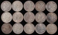 Lot of (15) Morgan Silver Dollars at PristineAuction.com