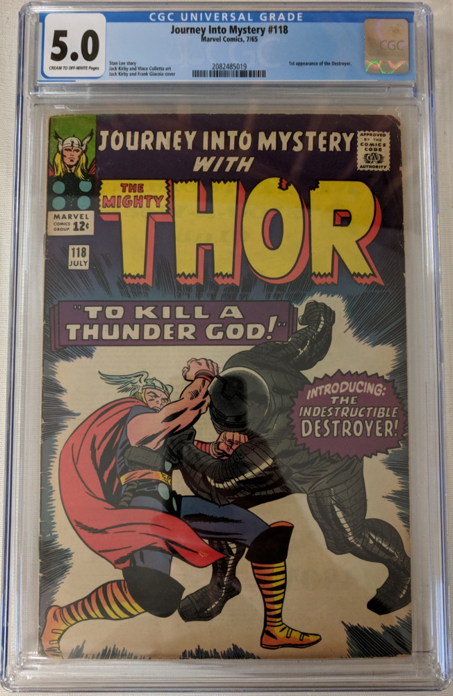 """1965 """"Journey Into Mystery"""" Issue #118 Marvel Comic Book (CGC 5.0) at PristineAuction.com"""