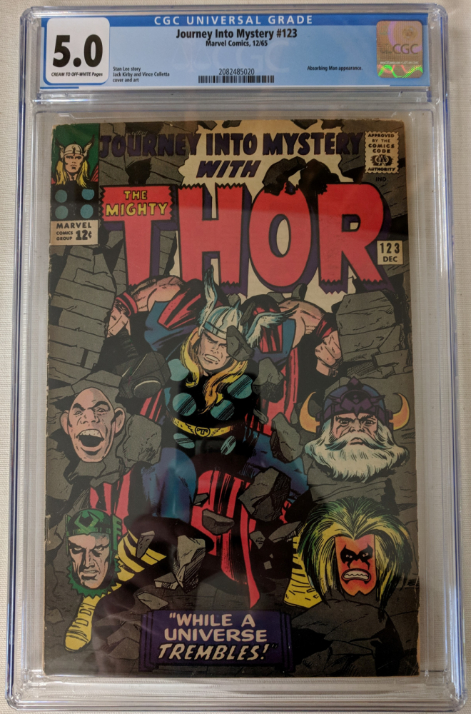 """1965 """"Journey Into Mystery"""" Issue #123 Marvel Comic Book (CGC 5.0) at PristineAuction.com"""