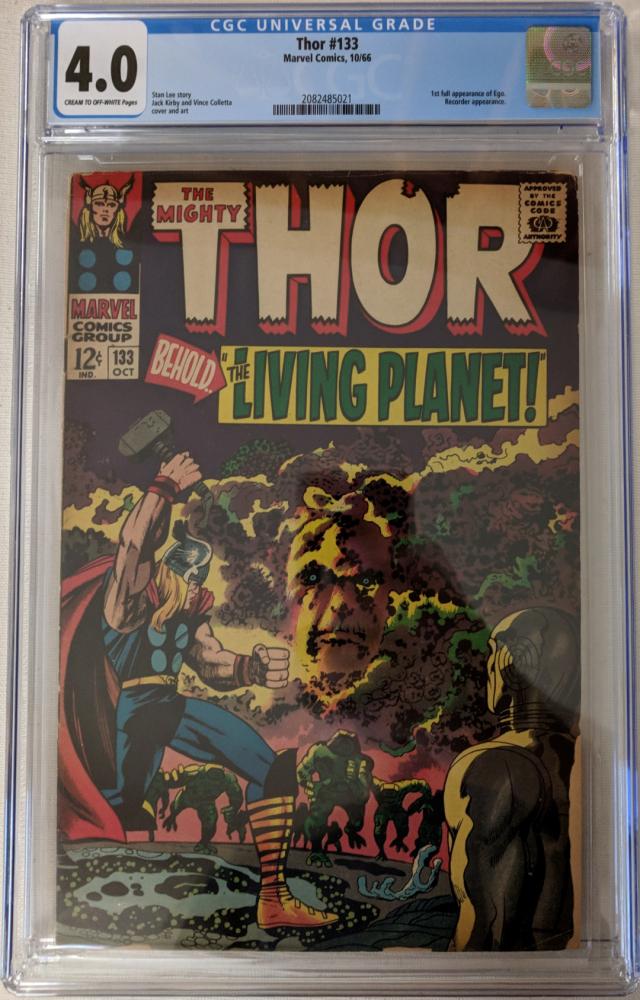 "1966 ""Thor"" Issue #133 Marvel Comic Book (CGC 4.0) at PristineAuction.com"