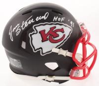 "Jan Stenerud Signed Chiefs Matte Black Speed Mini-Helmet Inscribed ""HOF '91"" (Schwartz Sports COA) at PristineAuction.com"