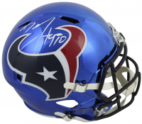 Denadre Hopkins Signed Texans Full-Size Chrome Speed Helmet (Beckett COA) at PristineAuction.com