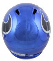Denadre Hopkins Signed Texans Full-Size Chrome Speed Helmet (Beckett COA) at PristineAuction.com