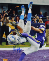 Golden Tate Signed Lions 16x20 Photo (Beckett COA) at PristineAuction.com