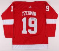 "Brendan Shanahan Signed Red Wings Steve Yzerman Jersey Inscribed ""SC '97 '98 '02"" (JSA COA) at PristineAuction.com"