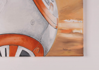 "Brian Herring Signed - Thang Nguyen - BB-8 - ""Star Wars"" - 24"" x 36"" Original Oil Painting on Canvas Inscribed ""BB-8"" with Hand-Drawn BB-8 Sketch (PA COA) at PristineAuction.com"