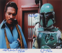 """""""Star Wars: The Empire Strikes Back"""" 12x14 Photo Cast Signed by (4) with Billy Dee Williams, Jeremy Bulloch, John Morton & Jason Wingreen (Beckett LOA) at PristineAuction.com"""
