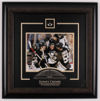 Sidney Crosby Signed Penguins 2009 Stanley Cup Champions 20x20 Custom Framed Photo Display (FSM COA) at PristineAuction.com