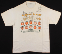 2003 St. Vincent–St. Mary The Fighting Irish T-shirt Team-Signed By (8) With LeBron James, Dru Joyce, Dru Joyce II, Willie McGee, Cory Jones (Beckett LOA) at PristineAuction.com
