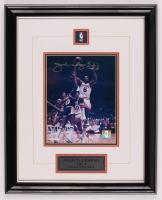 "Julius ""Dr. J"" Erving Signed 76ers 16.5x21 Custom Framed Photo Display (Mounted Memories COA) at PristineAuction.com"
