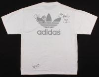 Joseph Simmons, Jam Master Jay & Darryl McDaniels Signed Run-DMC T-Shirt (Beckett LOA) at PristineAuction.com