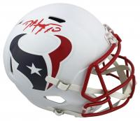 DeAndre Hopkins Signed Texans Full-Size Flat White Speed Helmet (Beckett COA) at PristineAuction.com