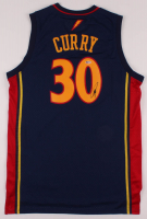 Stephen Curry Signed Throwback Warriors Jersey (Beckett COA) at PristineAuction.com