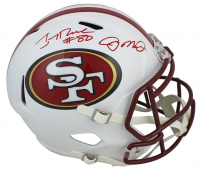 Joe Montana & Jerry Rice Signed 49ers Full-Size Matte White Speed Helmet (Beckett COA) at PristineAuction.com