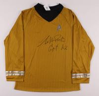 """William Shatner Signed Prop Uniform Shirt Inscribed """"Capt. Kirk"""" (JSA COA) at PristineAuction.com"""