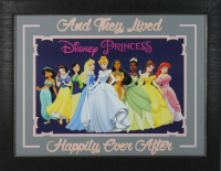 "Disney Princess ""And They Lived Happily Ever After"" 24x28 Custom Framed Photo Display at PristineAuction.com"
