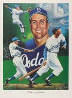 Duke Snider Signed LE Dodgers 18x24 Lithograph (JSA COA) at PristineAuction.com