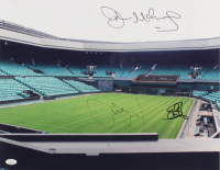 Novak Djokovic, Steffi Graf, & John McEnroe Signed 16x20 Photo (JSA COA) at PristineAuction.com