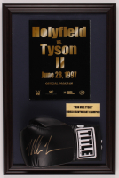 Mike Tyson Signed 15.5x23.5 Custom Framed Boxing Glove Display with Tyson vs Holyfield Program (JSA COA) at PristineAuction.com