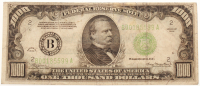 1934 $1000 One Thousand Dollars Federal Reserve Note at PristineAuction.com