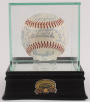 1966 Dodgers ONL Baseball Team-Signed by (25) with Sandy Koufax, Don Drysdale, Don Sutton, Walter Alston, Ron Fairly, Claude Osteen with Display Case (PSA LOA) at PristineAuction.com